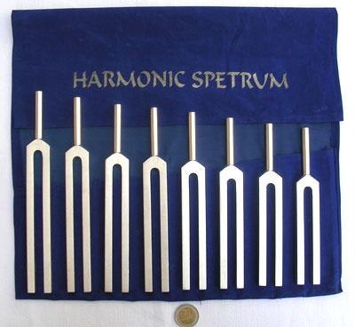 Harmonisches Spektrum Stimmgabel Set