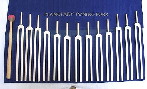 Planetentöne Stimmgabel Set