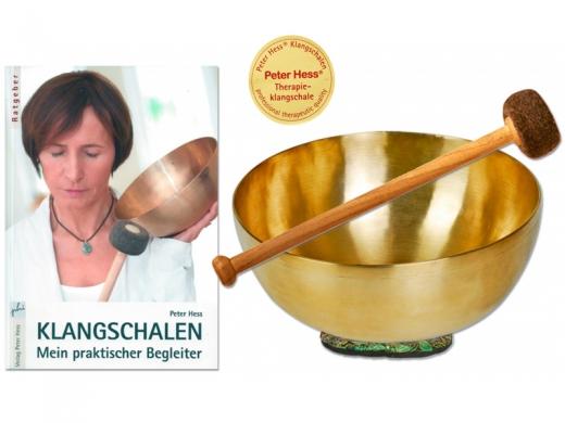 Set: Universalklangschale - Schlägel - Buch Klangschalen