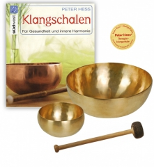 Basic Singing bowl set with mallett and book in English