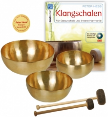 Basic Therapy Singing bowl set with book in English