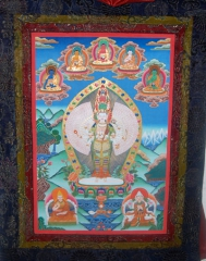 Lokeswora mit Pancha Buddha