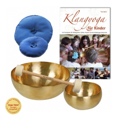 Set 2: Sound yoga for children (german) with recommended singing bowls, mallets and coasters