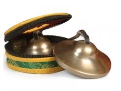Tibetan cymbals with cymbal bag